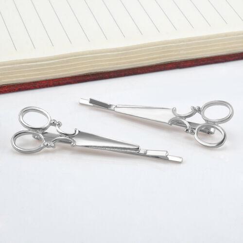 Chic Scissors Shape 2Pcs Hair Clip Gold/Silver Hair Pin Women Hair Accessory New