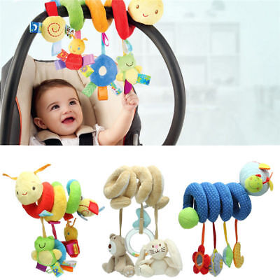 Activity Seat - Baby Activity Spiral Stroller Car Seat Travel Lathe Hanging Toys Rattles Toy Hot