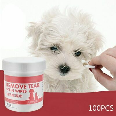 100pcs Pet Eye Wet Wipes Dog Cleaning Paper Towels Cat Tear Stain Remover Wipes