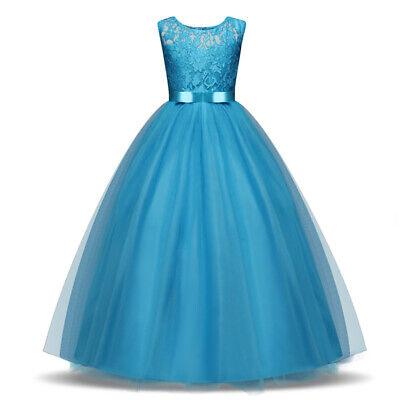 Wedding Dress For Halloween (Summer Princess Lace Flower Tutu Dress For Girls Wedding Events Halloween)