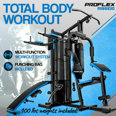 PROFLEX Home Gym Exercise Machine Fitness Equipment Weight Bench Station Press