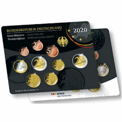 2020 Germany 9-Coin UNC BU Set - Munich Mint (D)