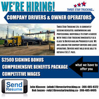 Class 1A Company Driver & Owner/Operator *$2500 SIGNING BONUS