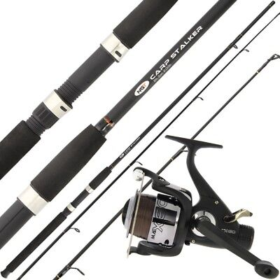 CARP STALKER FISHING ROD AND REEL 8ft, 2pc WITH CARP RUNNER AND LINE
