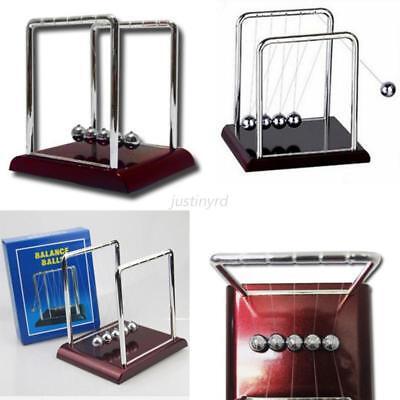 Pendulum Desk Fun Toy Balance Ball Cradle Physics Science Gift Steel Newtons