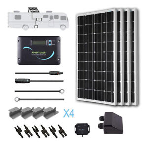 Renogy 100 to 400 Watt 12 Volt Monocrystalline Solar RV Kit