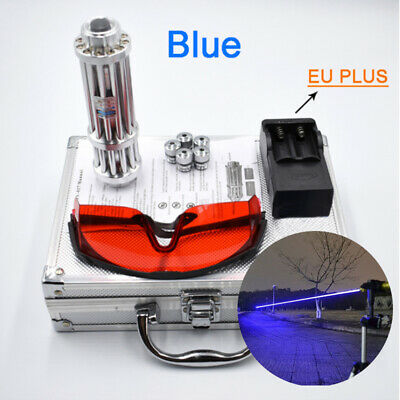 0.5mw 450nm Focus Visible Blue Beam Laser Pointer Pen Laser Torch Box Set