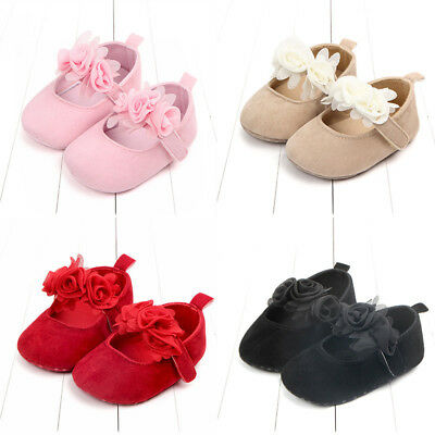 Cute Toddler Girls (Cute Baby Toddler Girls Crib Shoes Soft Sole Anti-slip For 0-18M Girl Xmas)