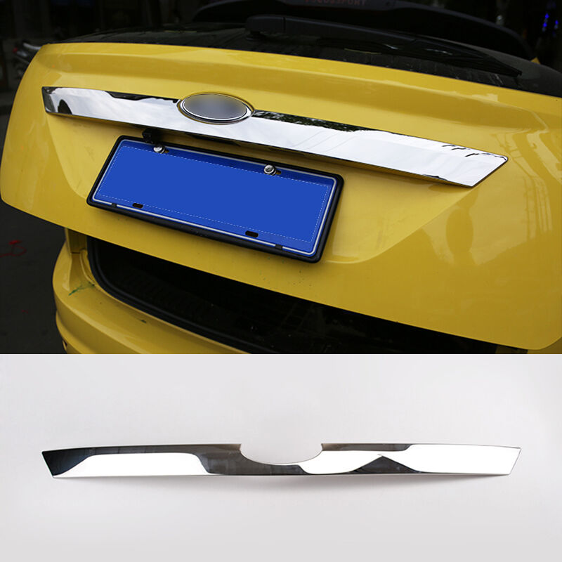 Fit For 09-11 Ford Focus Mk2 Hatchback Chrome Rear Trunk Lid Tailgate Cover Trim