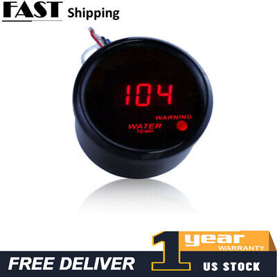 "2"" 52mm Digital LED Fahrenheit Water Temp Temperature Gauge/Sensor 104-300F A5"