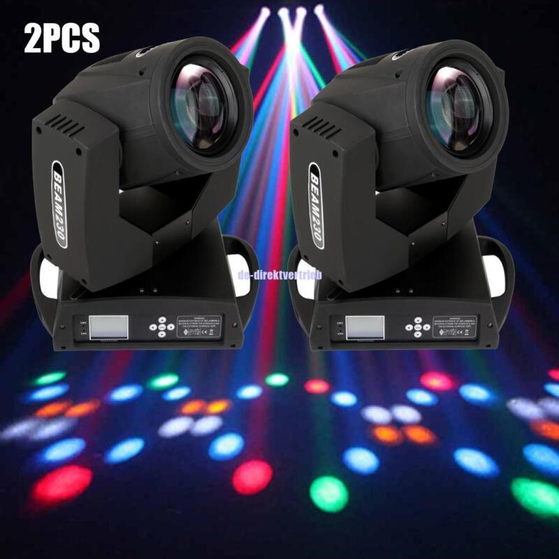2X 7R 230W Moving Head Beam Light 16prism DJ Disco Show Club Party RIDGEYARD