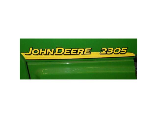 John Deere hood trim decal set for 2305 tractors
