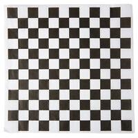 """Choice 12"""" x 12"""" Black Check Deli Sandwich Wrap Paper - 1000/Pac"""