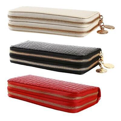 Ladies Leather Wallet Long Zip Purse Card Phone Holder Case Clutch Handbag T
