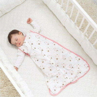 ADEN + ANAIS COZY SLEEPING BAG BREATHABLE COTTON MUSLIN WEARABLE BLANKET LAYER