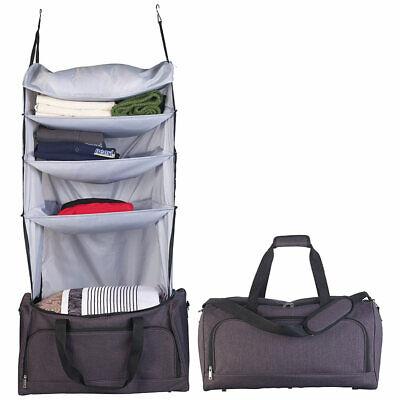 Xcase Faltbare Reisetasche mit integriertem Wäsche-Organizer zum Aufhängen - Wäsche-organizer