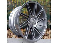 "19"" Veemann V-FS26 Gunmetal 5x112 for VW Audi Seat Etc"