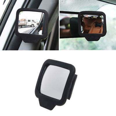 1xCar Black Shell Wide Angle Auxiliary Rear View Blind Spot Baby Backseat Mirror Acrylic Double Side Mirror