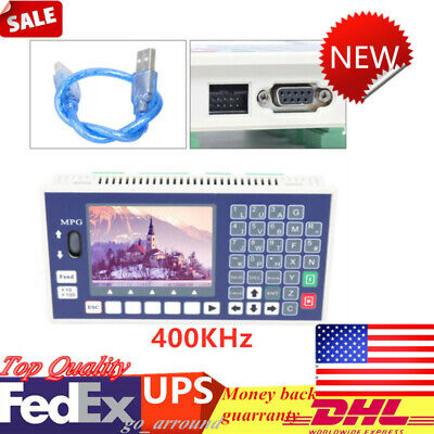 4 Axis Cnc Motion Controller System Lcd Support Offline Servo Stepper Motor Usb