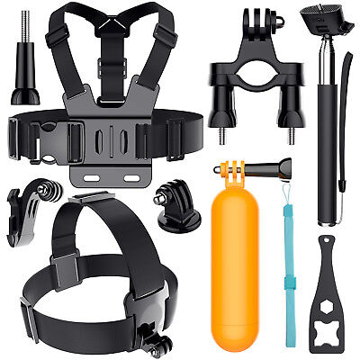 Head Chest Mount Monopod Gopro Accessories Kit For GoPro Hero 2 3+4 5 6 Camera