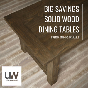 "FLOOR MODEL DISCOUNT 98"" RECLAIMED WOOD DINING TABLES"