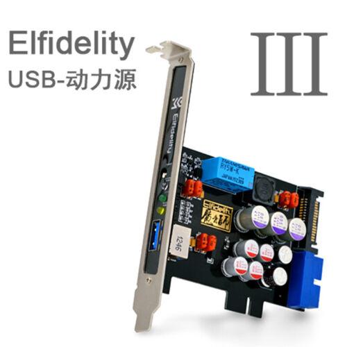 Elfidelity AXF-100 USB Power Source HiFi Interface Preamp Internal Filter