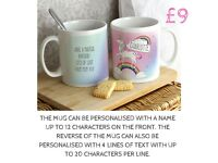 Personalised Unicorn Cup