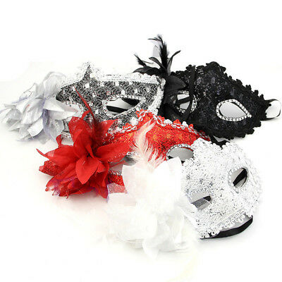 Women Face Mask Venetian Masquerade Carnival Masked Ball Fancy Dress Costume