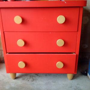 Kids Red Dresser