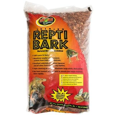 Bark Reptile Bedding (Zoo Med Premium Repti Bark Natural Reptile Bedding 24 Dry Quart )
