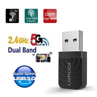 5G/2.4G WIFI USB 3.0 Adaptador 1200Mbps LAN para PC Ordenador Mesa Portatil...
