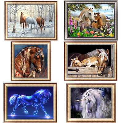 Horse 5 Horse (Horse 5D Diamond Painting DIY Embroidery Cross Stitch Home Decor Craft)