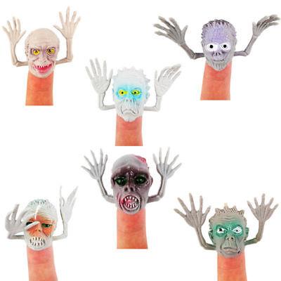 6 Stück Kunststoff Geist-Kopf Handspielpuppe Fingerpuppen Kostüm Halloween Fest
