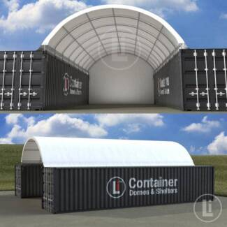 40 Ft Container Shelter with Back Wall **HEAVY DUTY BRAND NEW**