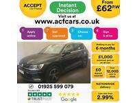 2016 BLACK VW TIGUAN 2.0 TDI 150 BMT 2WD SE DIESEL ESTATE CAR FINANCE FR £62 PW