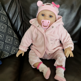 Reborn style doll, clothing and accessories