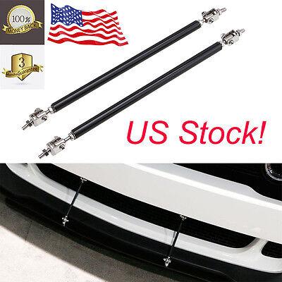 8 13 Adjustable Front Bumper Rod Splitter Spoiler Strut Support Tie Bars