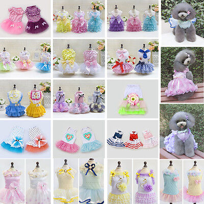 Puppy Pet Dog Dress Lace Skirt Cat Princess Dress Small Dog Clothes Clothing