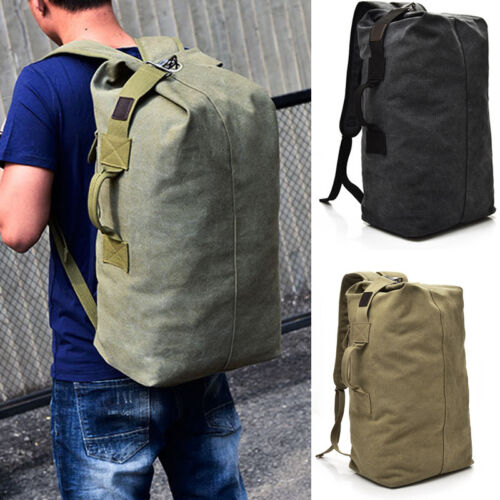 Draussen Herren Canvas Reiserucksack Wandern Satchel Military Taschen Rucksäcke