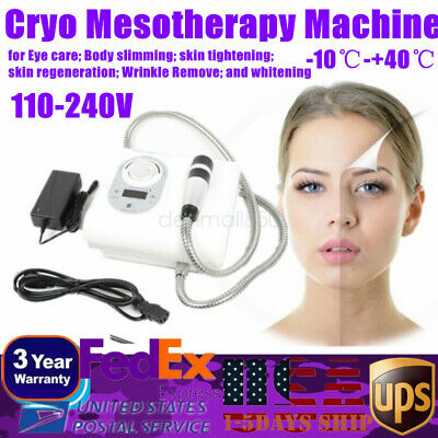 Cryo Cool Hot Mesotherapy Skin Massage Hammer Face Lifting Anti-aging Machine Us