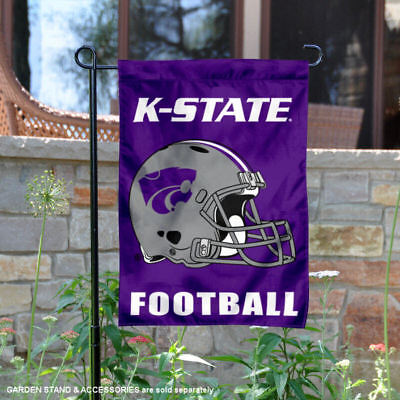 Kansas State Wildcats Football Helmet Garden Flag and Yard Banner