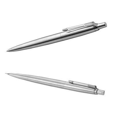 Parker Jotter Set Kugelschreiber M Blaue Mine und Bleistift 0,5mm Silber NEU OVP