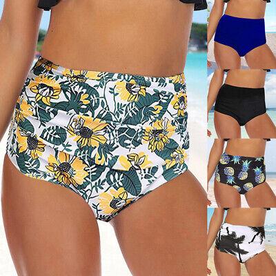 Frauen hoher Taille Bikini Hose Bottom Schwimmen Slip Bauchweg Surfshorts Pants