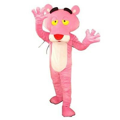 Cute Halloween Cartoon Characters (Halloween Cute Pink Leopard Cartoon Characte Mascot Costume Cosplay Party)