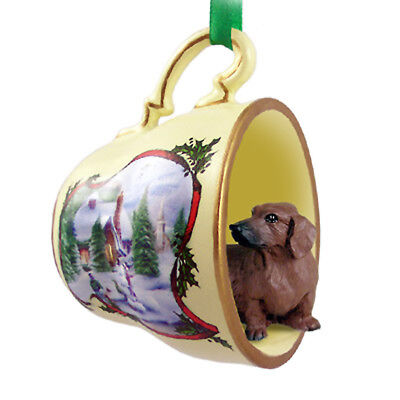 Dachshund Christmas Ornament Teacup Red for sale  Rochester