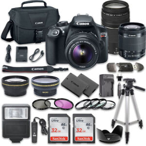 Canon T6 DSLR  With EF-S 18-55mm  Lens + 75-300mm Lens and Accs