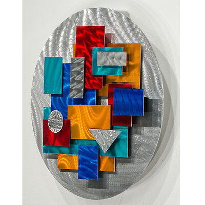 Statements2000 Modern 3D Metal Wall Accent Sculpture Geometric Decor Jon Allen