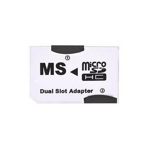 CR-5400 POP PhotoFast MicroSD MicroSDHC TF Card to MS Pro Duo Dual Slot Adapters