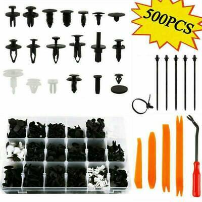 500Pc Car Retainer Push Pin Rivet Panel Body Interior Fastener Moulding Clip Kit