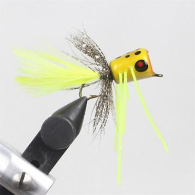 6 Pack Yellow Floating fry size 10 Trout flies Yellow Float Fry Fishing Flies